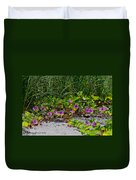 Blooming Cross Vines Along The Beach Duvet Cover