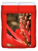 Blooming Fire Spike Duvet Cover