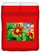 Blooming Gaillardia Duvet Cover