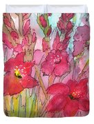 Blooming Glads Duvet Cover