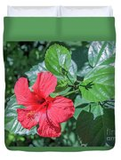 Blooming Hibiscus Duvet Cover