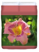 Blooming In Pink Duvet Cover