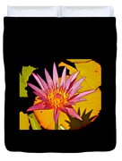 Blooming Lotus Flower Duvet Cover