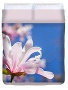 Blooming Magnolia Flower Duvet Cover