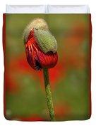 Blooming Orange Poppy Duvet Cover