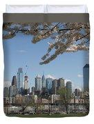 Blooming Philadelphia  Duvet Cover