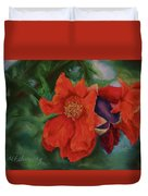 Blooming Poms Duvet Cover