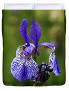 Blooming Purple Iris Duvet Cover