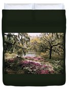 Blooming Shrubs And Trees Duvet Cover