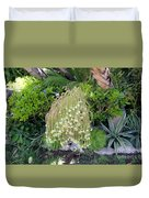Blooming Succulent Plant. Amazing Duvet Cover