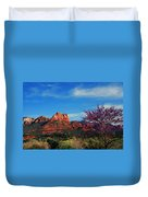 Blooming Tree In Sedona Duvet Cover