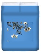 Blooming Trees Art Print White Magnolia Flowers Baslee Troutman Duvet Cover