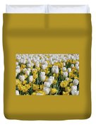 Blooming Tulips As Far As The Eye Can See Duvet Cover