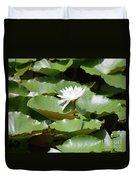 Blooming Waterlily  Duvet Cover
