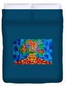Blooms In Blue Duvet Cover