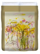 Blooms In Shadow Duvet Cover
