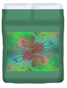 Blooms In The Mist Duvet Cover