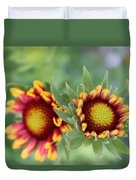 Blooms Of Color Duvet Cover