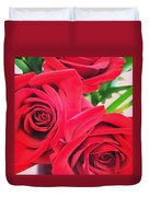 Blooms Of Red Duvet Cover