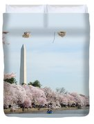 Blooms Of The Tidal Basin Duvet Cover