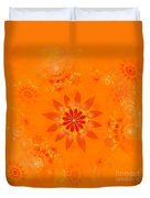 Blossom In Orange Duvet Cover