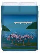Blossom In The Hardanger Fjord Duvet Cover