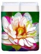 Blossom Lotus Flower Duvet Cover