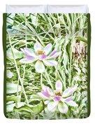 Blossom Pink Lotus Flower Duvet Cover