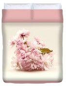 Blossoming Cherry Twig Duvet Cover