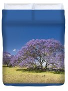 Blossoming Jacaranda Duvet Cover