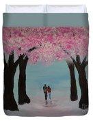 Blossoming Romance Duvet Cover