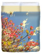 Blossoms Against The Sky Duvet Cover