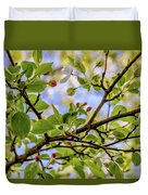 Blossoms And Leaves Duvet Cover