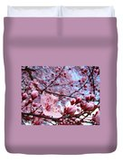Blossoms Art Blue Sky Spring Tree Blossoms Pink Giclee Baslee Troutman Duvet Cover