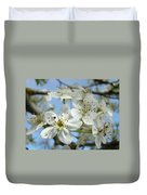 Blossoms Art Prints Whtie Spring Tree Blossoms Blue Sky Baslee Duvet Cover