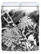 Zinnia Blossoms Duvet Cover