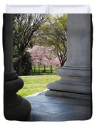 Blossoms Of The Columns Duvet Cover