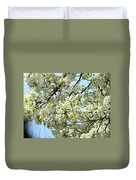 Blossoms Whtie Tree Blossoms 29 Nature Art Prints Spring Art Duvet Cover