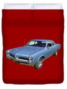 Blue 1966 Pointiac Lemans Duvet Cover