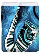 Piano Keys In A Saxophone Blue 2 - Music In Motion Duvet Cover