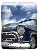 Blue 57 Stepside Chevy Duvet Cover