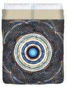 Blue Abalone Sphere Duvet Cover