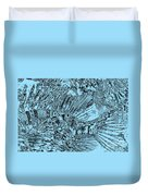 Blue Abstract - Lionfish Duvet Cover