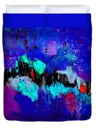 Blue Abstract 55698 Duvet Cover