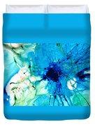 Blue Abstract Art - A Calm Energy - By Sharon Cummings Duvet Cover