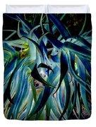 Blue Abstract Art Lorx Duvet Cover