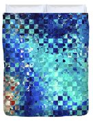 Blue Abstract Art - Pieces 2 - Sharon Cummings Duvet Cover