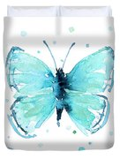 Blue Abstract Butterfly Duvet Cover