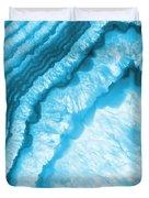 Blue Agate Slice Duvet Cover