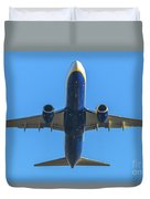 Blue Airplane Takeing Off Duvet Cover